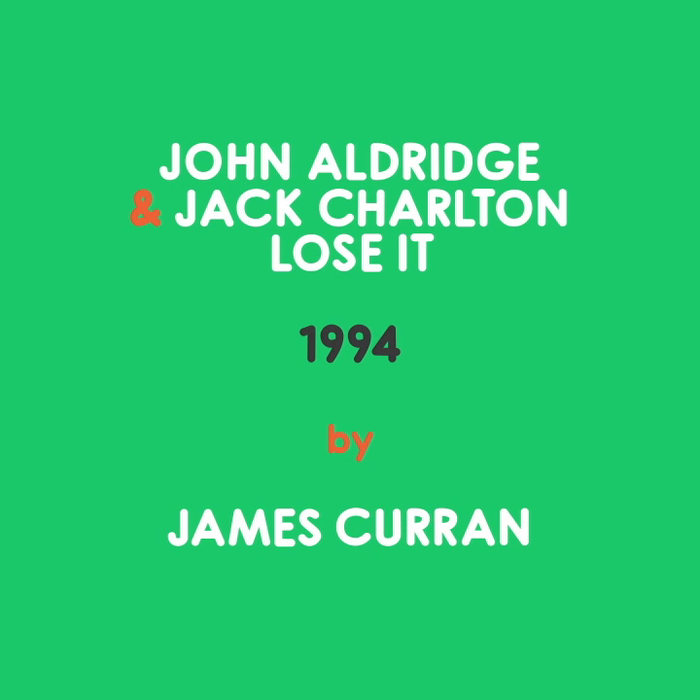 John Aldridge & Jack Charlton by James Curran
